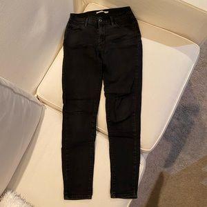 Levi's Black Super Skinny Jeans